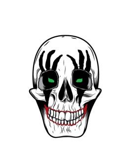 isolated skull